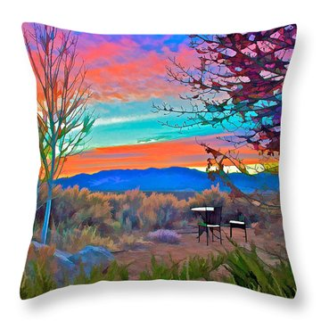 Dawn In El Prado  Throw Pillow