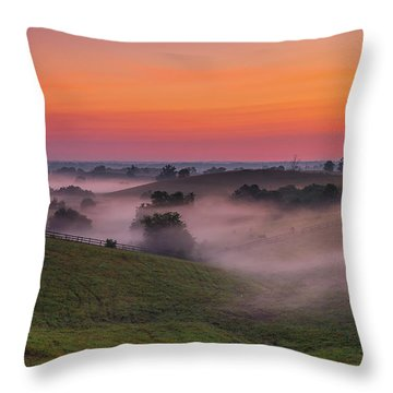 Dawn In Kentucky Throw Pillow by Ulrich Burkhalter