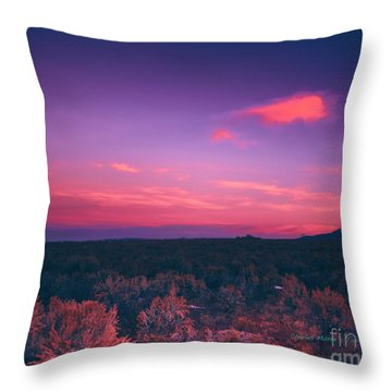Dawn In Taos Throw Pillow