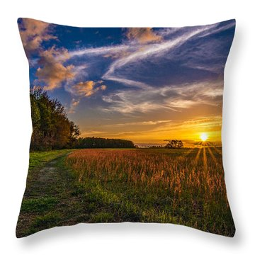 Dawn In The Lower 40 Throw Pillow