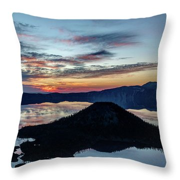 Dawn Inside The Crater Throw Pillow
