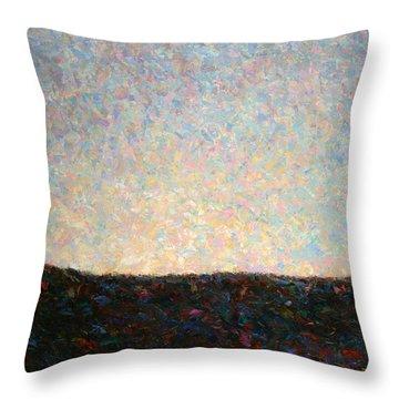 Dawn Throw Pillow by James W Johnson