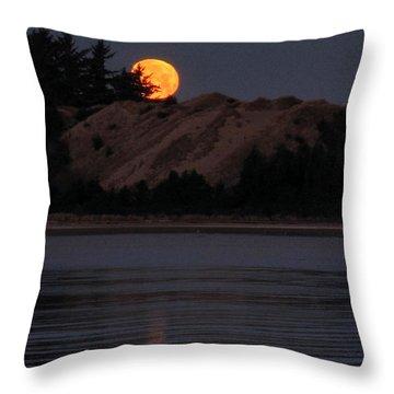 Dawn Moon Glow Throw Pillow