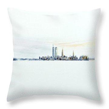Dawn New York City Throw Pillow