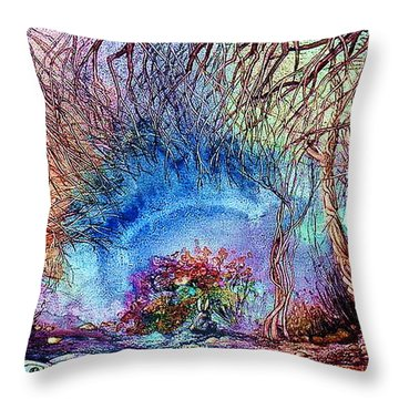 Throw Pillow featuring the painting Dawn Of A Kid by Mikhail Savchenko