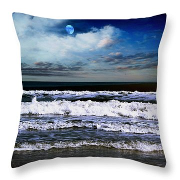 Dawn Of A New Day Seascape C2 Throw Pillow