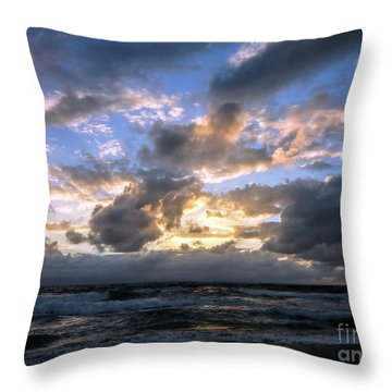 Dawn Of A New Day Treasure Coast Florida Seascape Sunrise 138 Throw Pillow