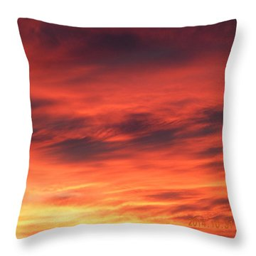 Dawn Of Color Throw Pillow