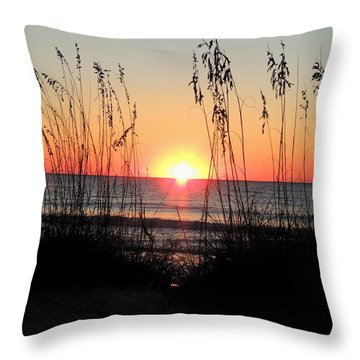 Dawn Of The Eclipse Throw Pillow