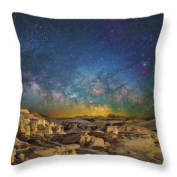 Dawn Of The Universe Throw Pillow