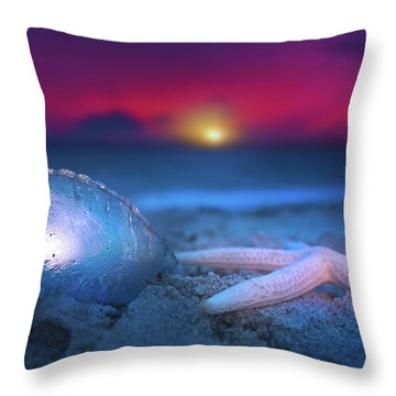 Throw Pillow featuring the photograph Dawn Of The Warriors by Mark Andrew Thomas