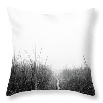 Dawn On Back Bay  Throw Pillow