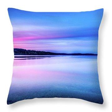 Throw Pillow featuring the photograph Dawn On Bainbridge Island by Spencer McDonald