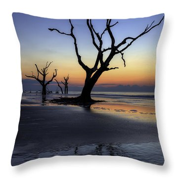 Dawn On Bull Island Throw Pillow