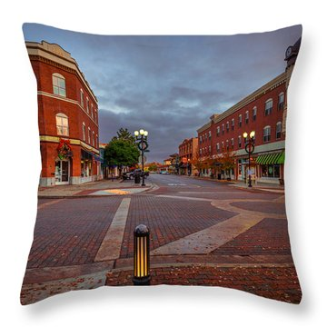 Dawn On Park Street Throw Pillow