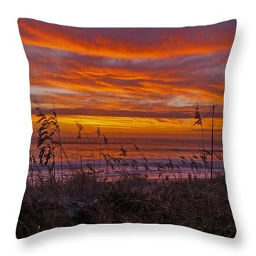 Dawn On The Dunes Throw Pillow