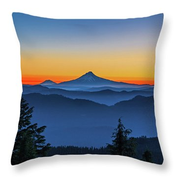 Dawn On The Mountain Throw Pillow