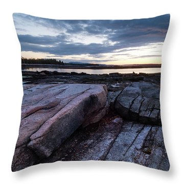 Dawn On The Shore In Southwest Harbor, Maine  #40140-40142 Throw Pillow
