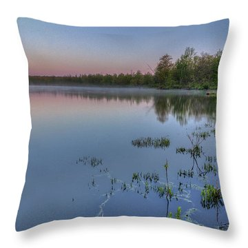 Dawn Over North Bay Throw Pillow