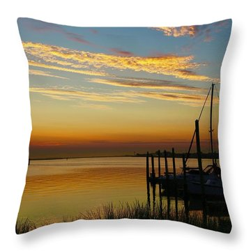 Dawn Over The Bay Throw Pillow