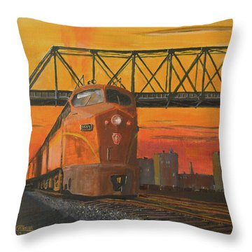 Dawn Patrol Throw Pillow by Christopher Jenkins