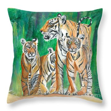 Dawn Patrol- Painting  Throw Pillow