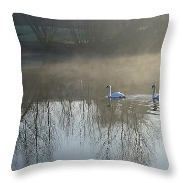 Dawn Patrol Throw Pillow by Rod Johnson