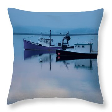 Throw Pillow featuring the photograph Dawn Rising Over The Harbor by Jeff Folger