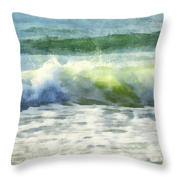 Throw Pillow featuring the digital art Dawn Wave by Francesa Miller