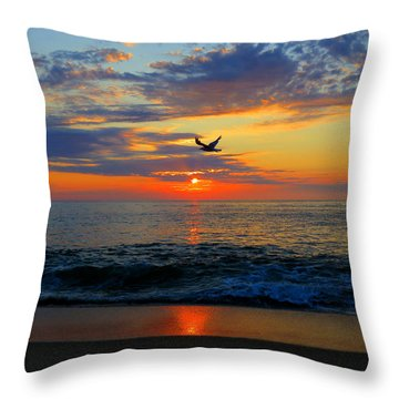 Dawning Flight Throw Pillow