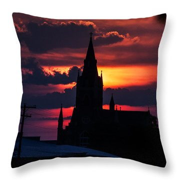 Dawning Faith Throw Pillow