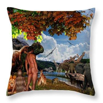Day 6 Throw Pillow by Lourry Legarde