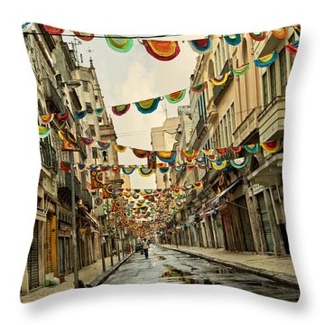 Throw Pillow featuring the photograph Day After by Kim Wilson