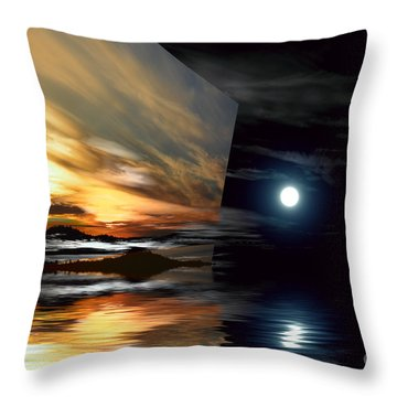 Day And Night Welcome Beach Throw Pillow
