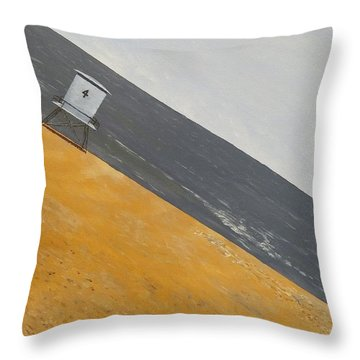 Throw Pillow featuring the painting Day At The Beach by Kevin Daly