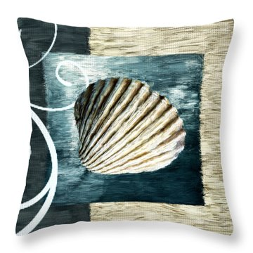 Day At The Beach Throw Pillow by Lourry Legarde