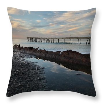 Day At The Pier Throw Pillow