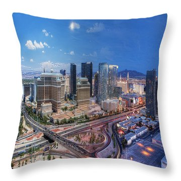 Day Becomes Night Throw Pillow
