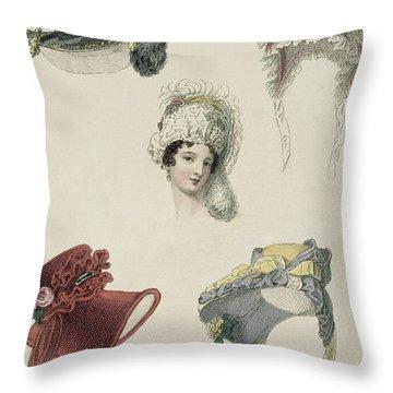 Day Bonnets Throw Pillow
