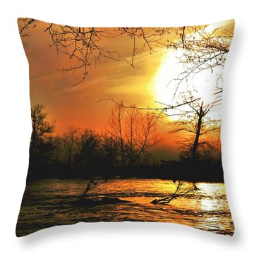 Throw Pillow featuring the photograph Day Break by EDi by Darlene