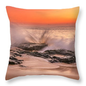 Day Break Throw Pillow by Racheal Christian