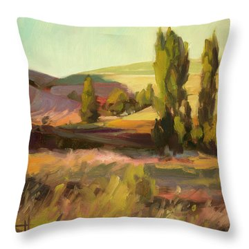Day Closing Throw Pillow