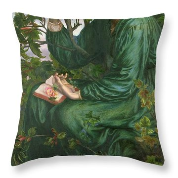 Day Dream Throw Pillow by Dante Charles Gabriel Rossetti