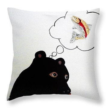 Day Dreaming Of Lunch Throw Pillow by Joseph Frank Baraba
