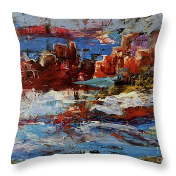 Throw Pillow featuring the painting Day Dreaming Sedona Arizona by Reed Novotny