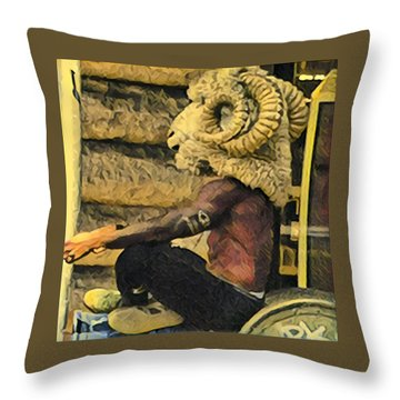 Day In Soho Throw Pillow