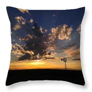 Throw Pillow featuring the photograph Day Is Done by Carl Young