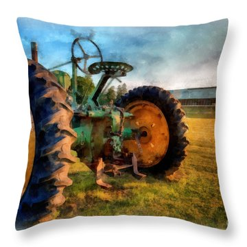 Day Is Done Watercolor Throw Pillow