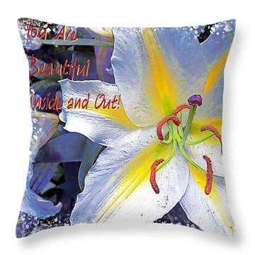 Day Lily Beauty Throw Pillow