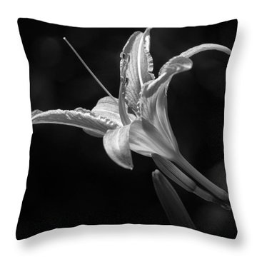 Day Lily Profile Throw Pillow